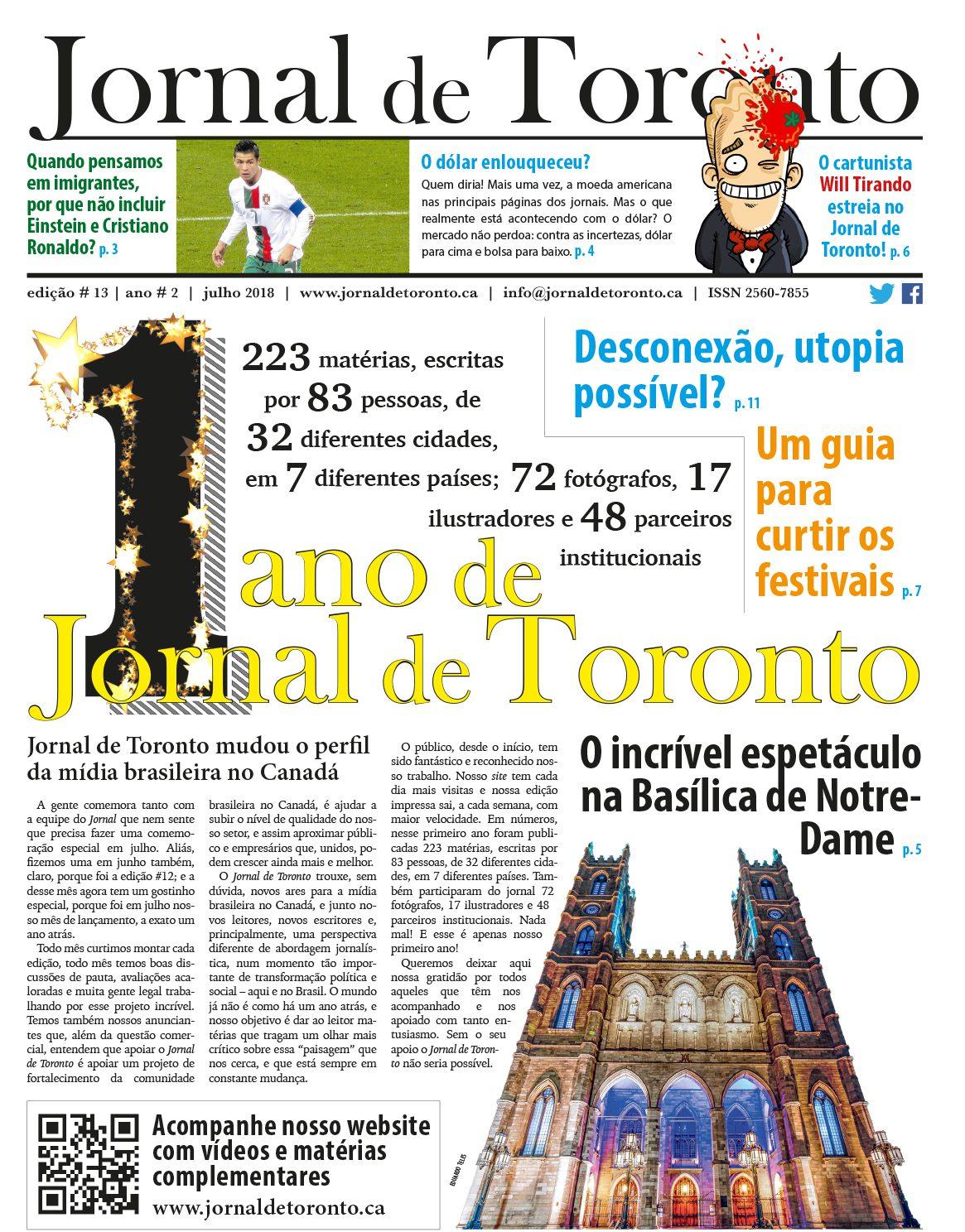 Jornal de Toronto_n 13_capa