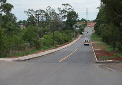 Concluída pavimentação da Avenida das Indústrias