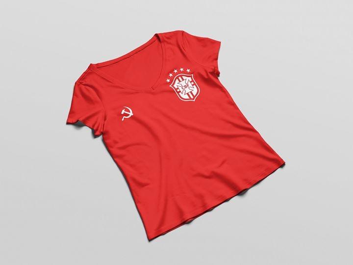 a0e01ec2f3 Mineira cria camisa da Seleção vermelha