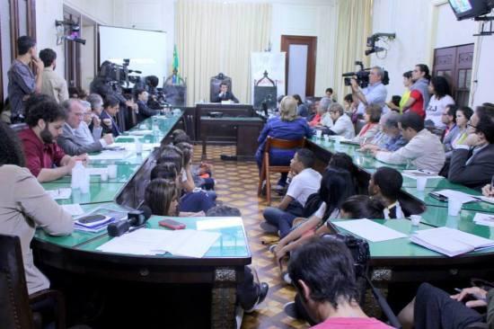Audiência realizada na  na Assembleia Legislativa do Rio de Janeiro