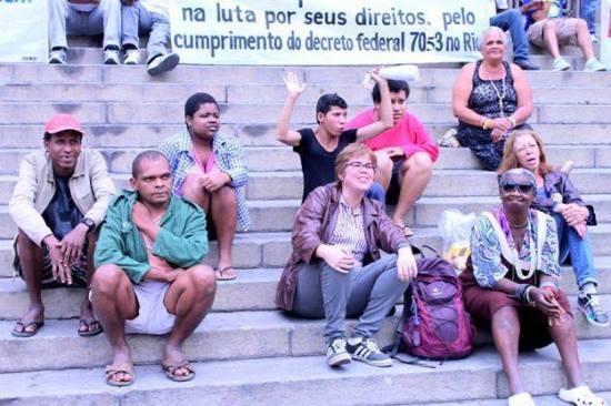 Movimento contra a criminalização da pobreza / Foto Gizele Martins
