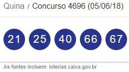 Resultado da Quina 4696