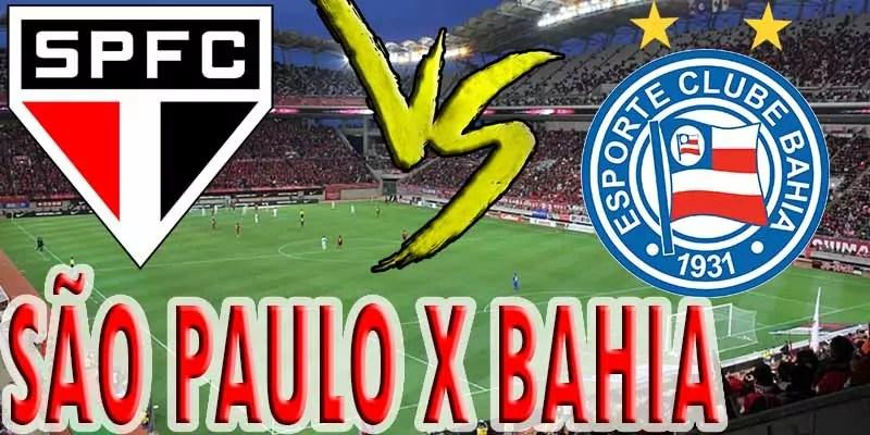 Jogo ao vivo: São Paulo x Bahia no duelo do futebol ao vivo de hoje
