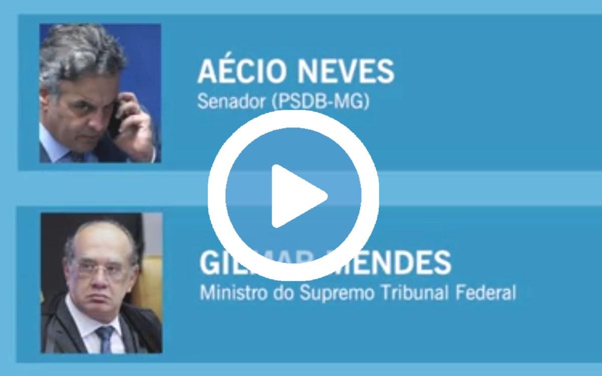 Vídeo viral : Aécio e Gilmar Mendes articulando sobre a lei de abuso de autoridade