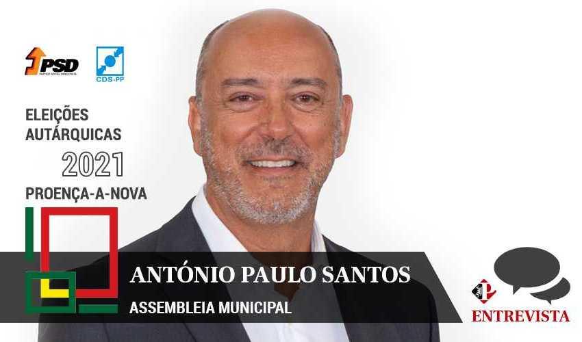 """Autárquicas 2021: António Paulo Santos quer """"melhorar a vida das pessoas"""""""