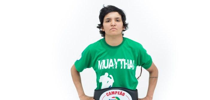 Histórico: Atleta de Centenário do Sul é campeã brasileira de Muay Thai