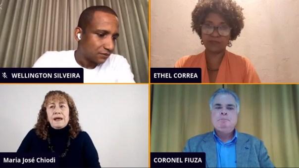 Em live realizada pelo Facebook com outros dois pré-candidatos a prefeito, Maria José Chiodi defende o retorno da isenção do IPTU residencial (print de live publicada no Facebook em 14/07/2020)