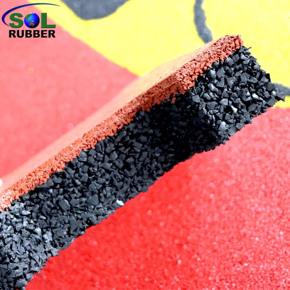 sol rubber outdoor driveway recycled