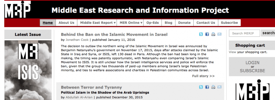MERIP: Middle East Research and Information Project