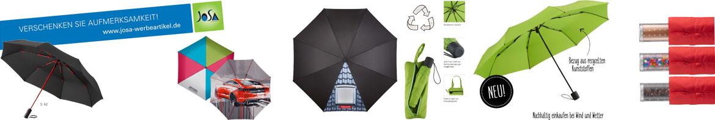 Regenschirme mit Firmenlogo als Werbeartikel