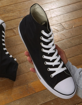 High Top Printable Canvas Shoe/XL