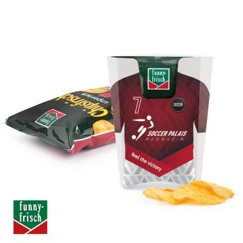 Werbeartikel Chips Box funny frisch mit Werbeaufdruck