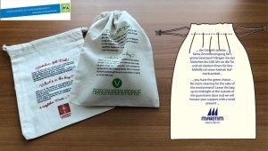 Werbeartikel Zuziehbeutel aus Baumwolle
