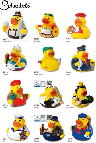 Werbeartikel Quietscheente City Duck