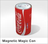 Haptische Werbehilfe Faltwerk Magnetic Magic Can