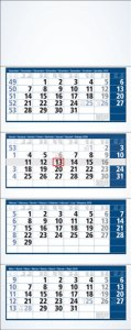 Organisationsplaner 4-Monatsplaner Minimax Timer Int. 31,8 x 87,5 cm