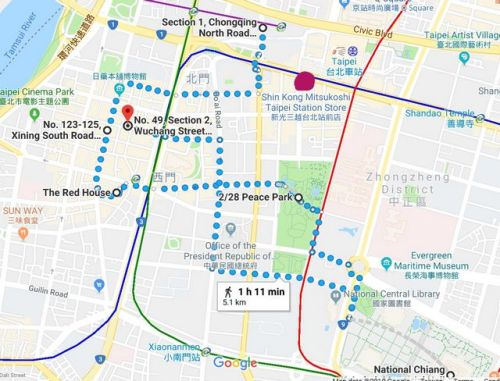 walking route for 8 hours in Taipei
