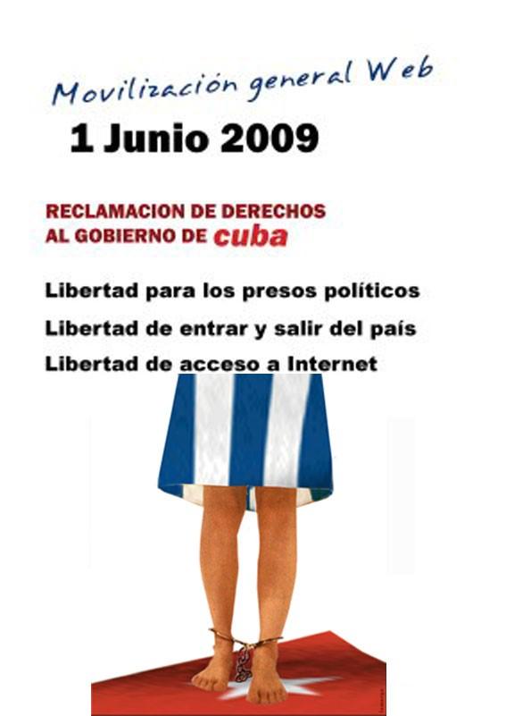 Movilización en la Web el 1 de junio.