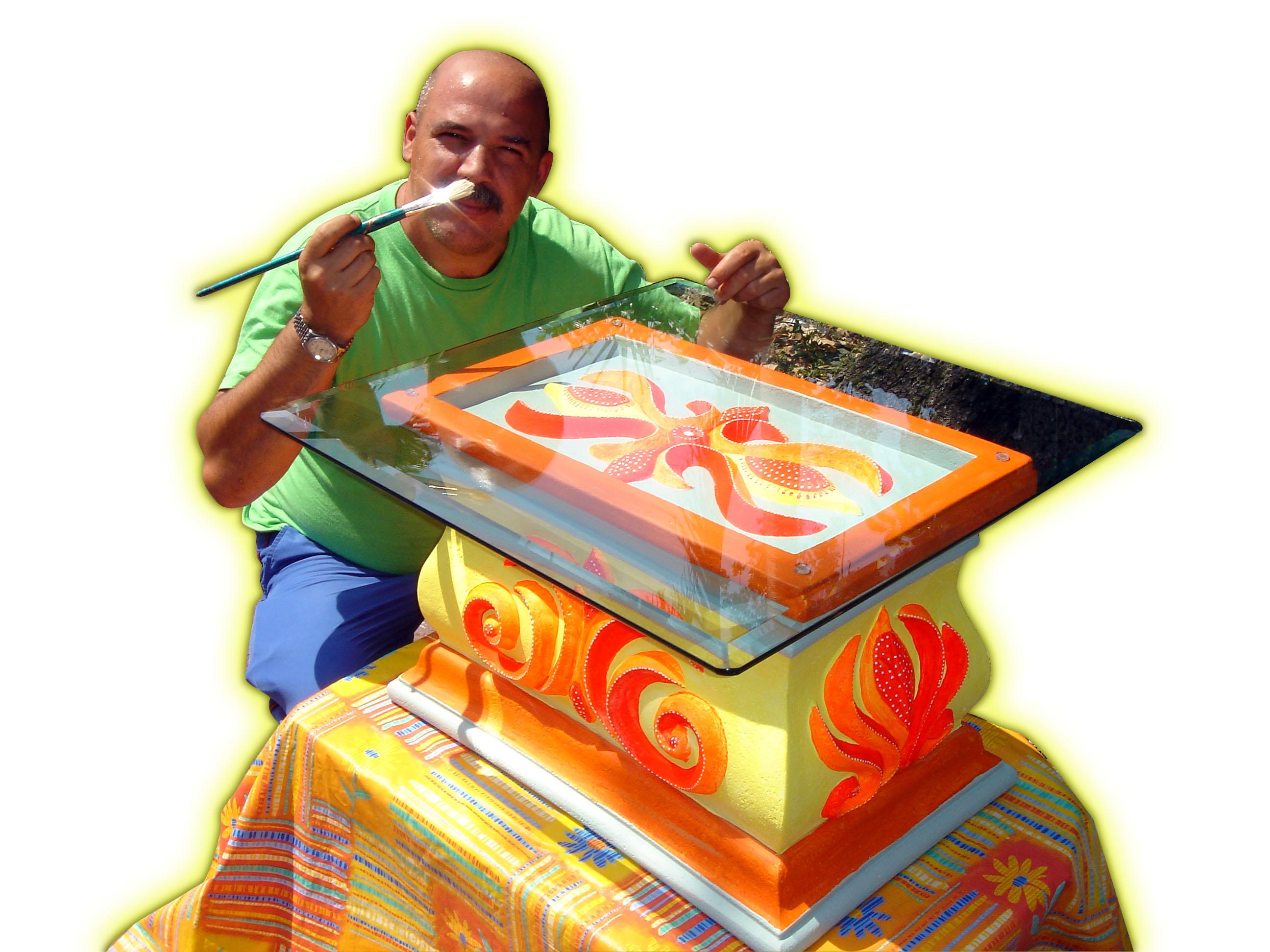 Gian Pietro Cazzago con sus ilustraciones infantiles, sus diseños y decorados ambientales, 2006