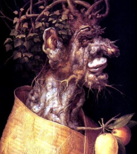 Pintura del manierista italiano Arcimboldo, Winter.