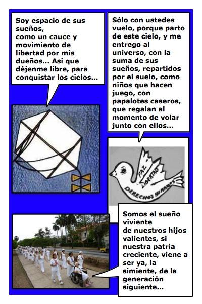 El Papadama de Blanco, en homenaje a esas maravillosas mujeres cubanas, historieta de Josán Caballero, con imágenes de Margarita García Alonso y diseños de Piero Gemelli.