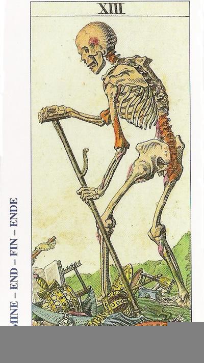 La Carta XIII del Tarot, que es La-Muerte, pero significa cambio, transmutación, nacimiento.