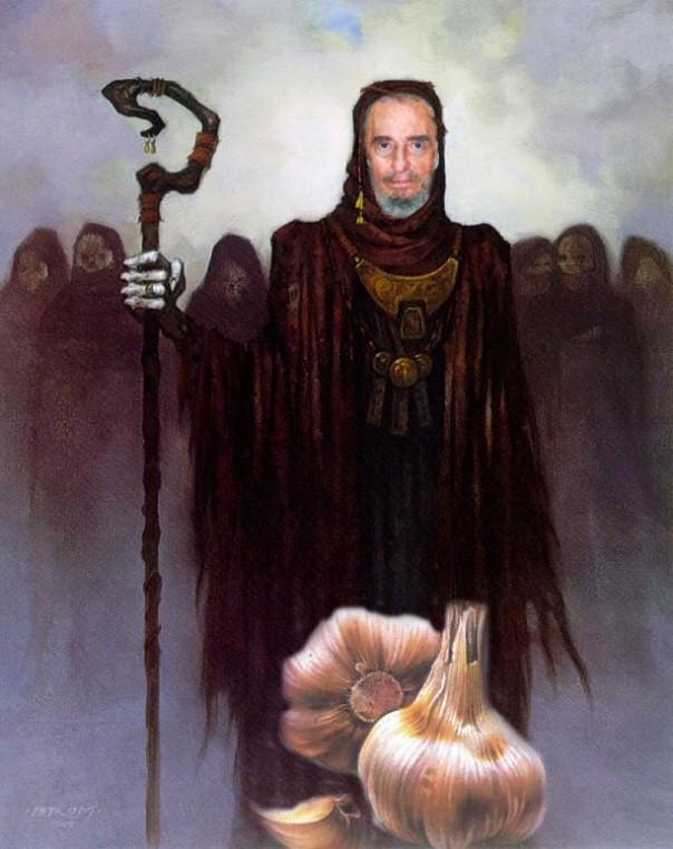 Fidelajo vejestorio, infierno sin purgatorio..., Josán Caballero, sobre una ilustración de Margarita García Alonso.