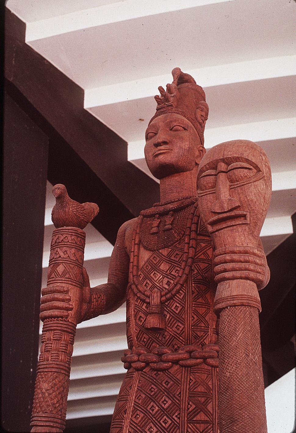 La imagen de la diosa Odúduwa...