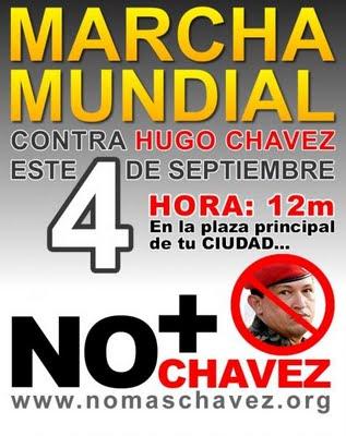 HOY A LAS 12 DEL DÍA EN VENEZUELA NO MÁS CHAVEZ... A LA 4 DE LA TARDE EN MIAMI NO MÁS CHÁVEZ...