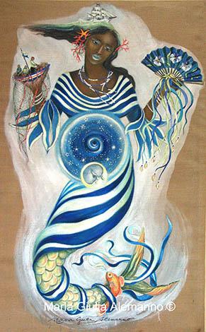 Yemayá, una pintura de M. G.