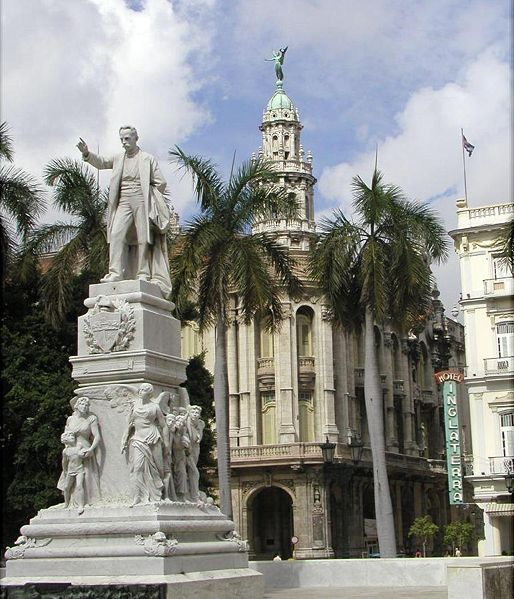 José Martí en el Parque Central, de La Habana
