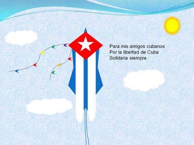 PAPALOTE POR LA LIBERTAD Y DEMOCRACIA DE CUBA, de Inés de Cuevas.