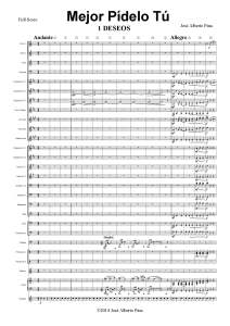 Páginas desdeMejor pídelo tú. Banda - 000 Full Score