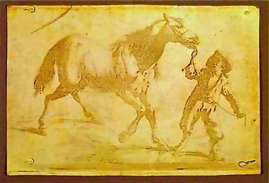 La primera fotografía de la historia - Muchacho tirando del caballo- Niepce