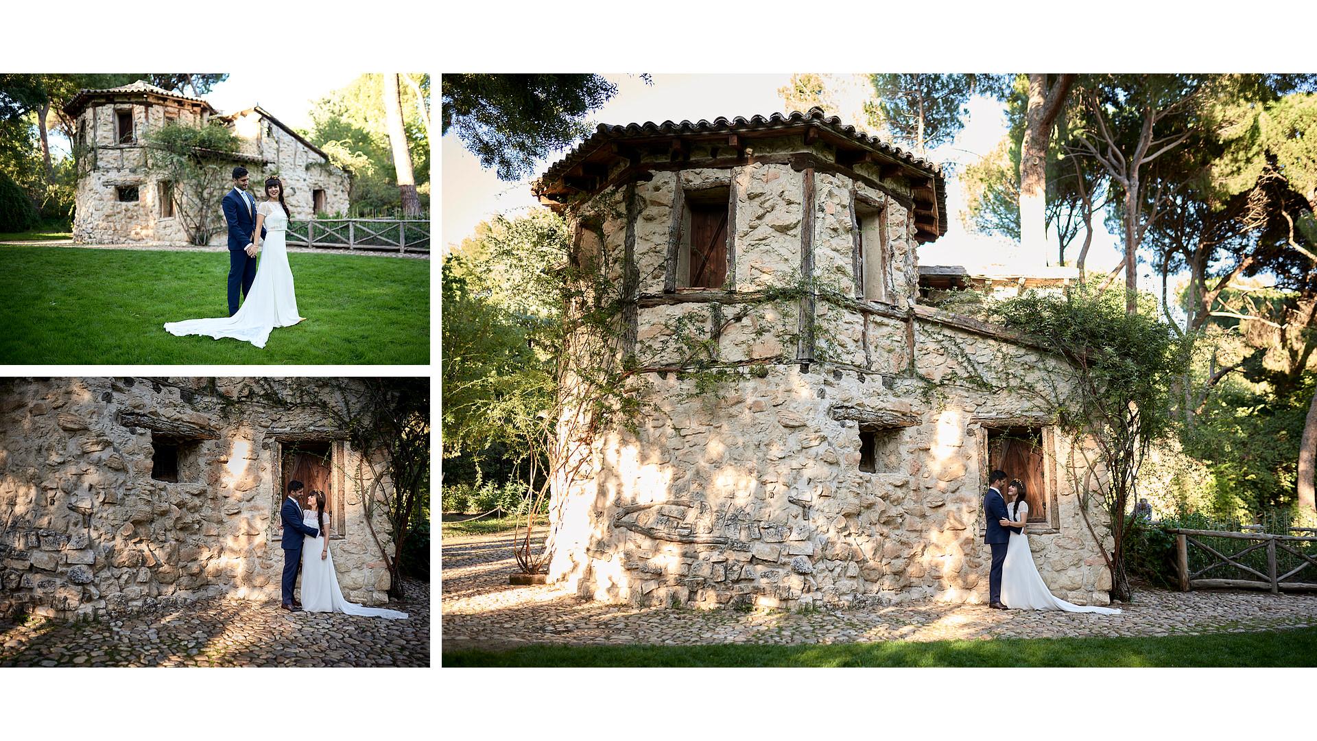 Postboda en el Jardín de El Capricho. Mario y María