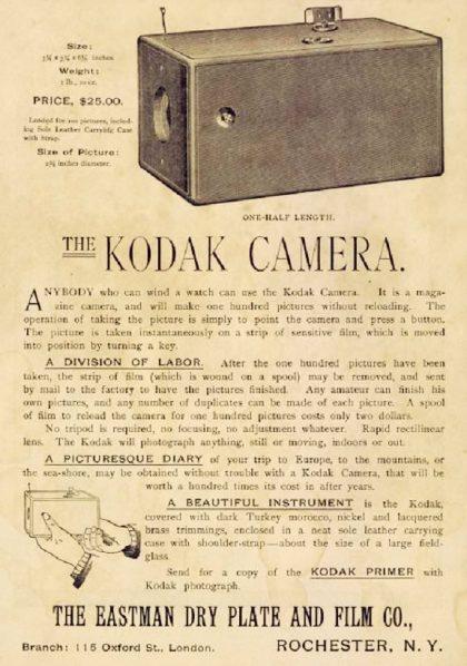 Kodak no.1. Historia de la Fotografía - José Álvarez Fotografía