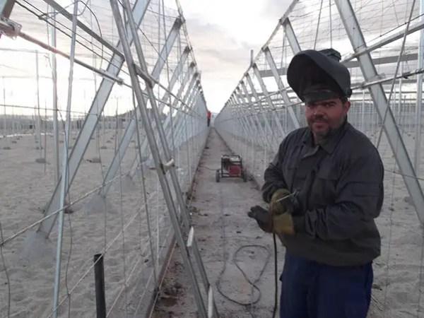 construcción de invernaderos