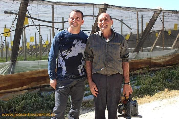 Gabriel Maleno, padre e hijo, agricultores de El Ejido, Almería, SAMA