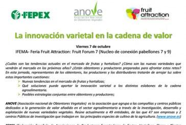 Día 7 de octubre. Jornada 'La innovación varietal en la cadena de valor'. Anove