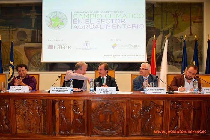 Jornada sobre el cambio climático y sus efectos sobre la agricultura. Organiza Fundación Lafer en el Instituto de Ingenieros de España, en Madrid.