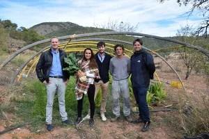 Lexportia Bio con agricultores murcianos de productos ecológicos, Sierra Espuña.