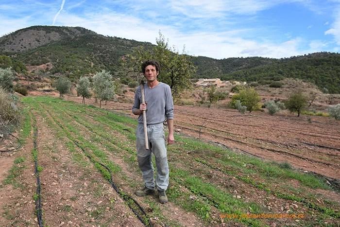 Francisco Javier Pérez Martín, agricultor de cultivos ecológicos de Sierra Espuña, Murcia.