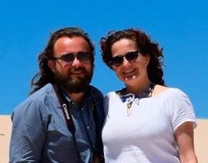 Ana Rubio y José Antonio Arcos en Conil de la Frontera, Cádiz.