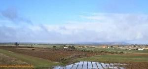 Recorriendo los campos de Extremadura, en Badajoz.