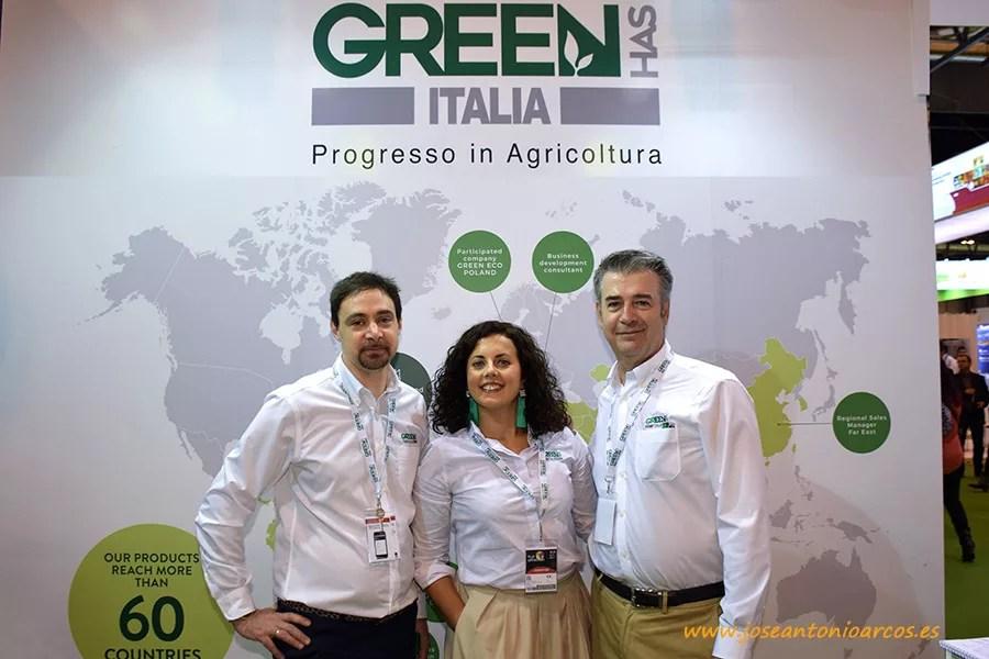 Daniele Raimondo, gerente de Green Has Iberia; Carmen Granados, marketing ejecutivo; y Raúl Clemente, dirección comercial de Green Has Iberia.