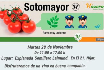 Día 28 de noviembre. Jornada de tomate en rama de Hazera