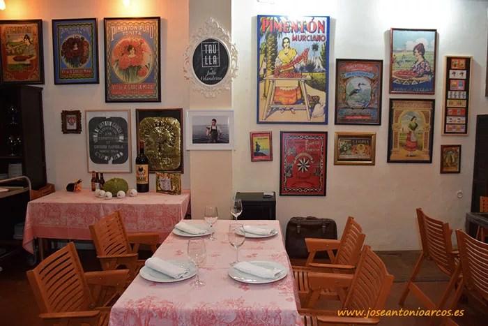 Restaurante Taúlla. Murcia. Chef Julio Velandrino.