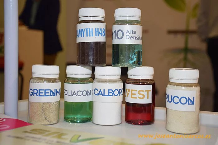 Algunos de los productos de Green Has Iberia, entre ellos el Calboron.