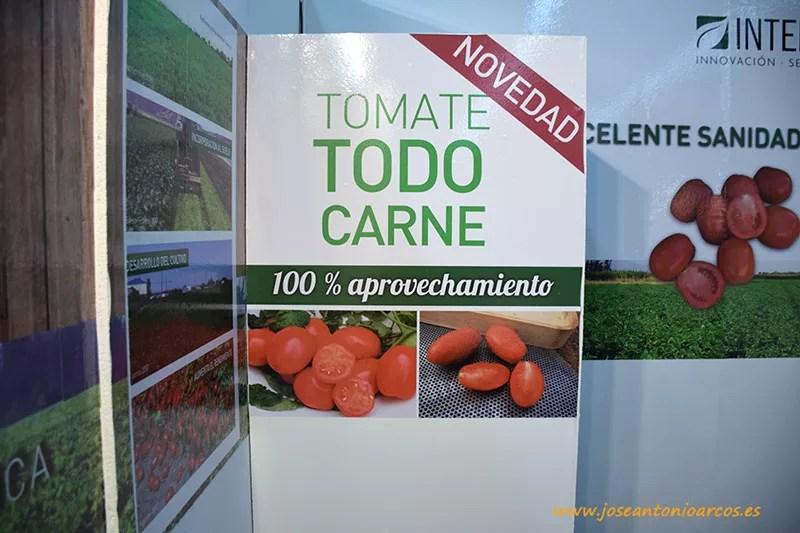 Intersemillas en la feria agrícola de Don Benito. Novedades en variedades para tomate de industria.