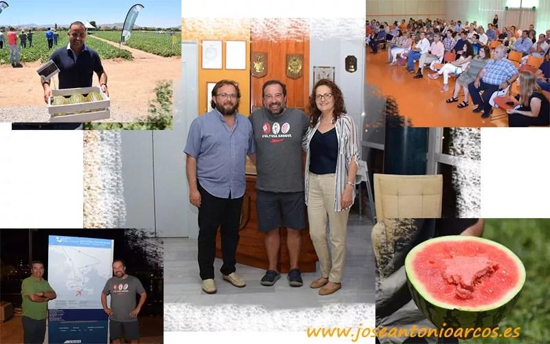 Global Melon & Watermelon Event de Rijk Zwaan. Ana Rubio y José Antonio Arcos con un productor chileno de melón y sandía.